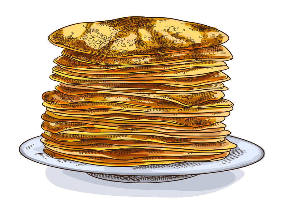 Free Pancakes clipart for kids