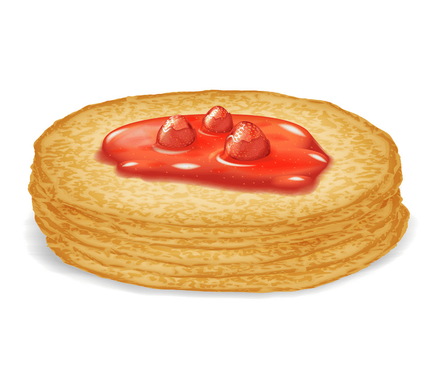 Free Pancakes clipart png for kid