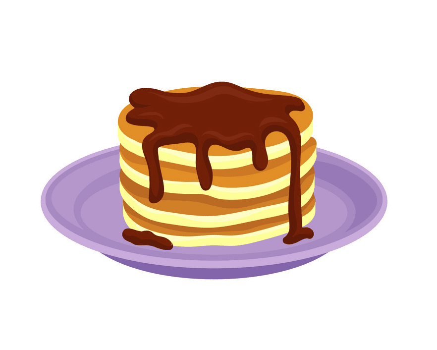 Free Pancakes clipart png for kids
