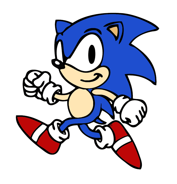 Free Sonic clipart for kids