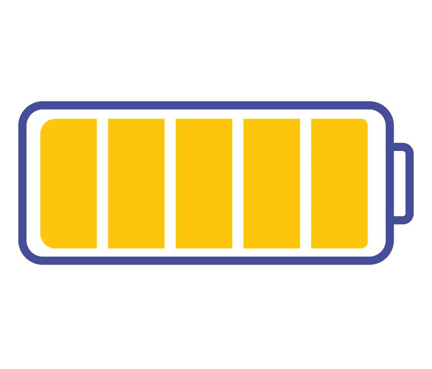 Full Battery clipart image