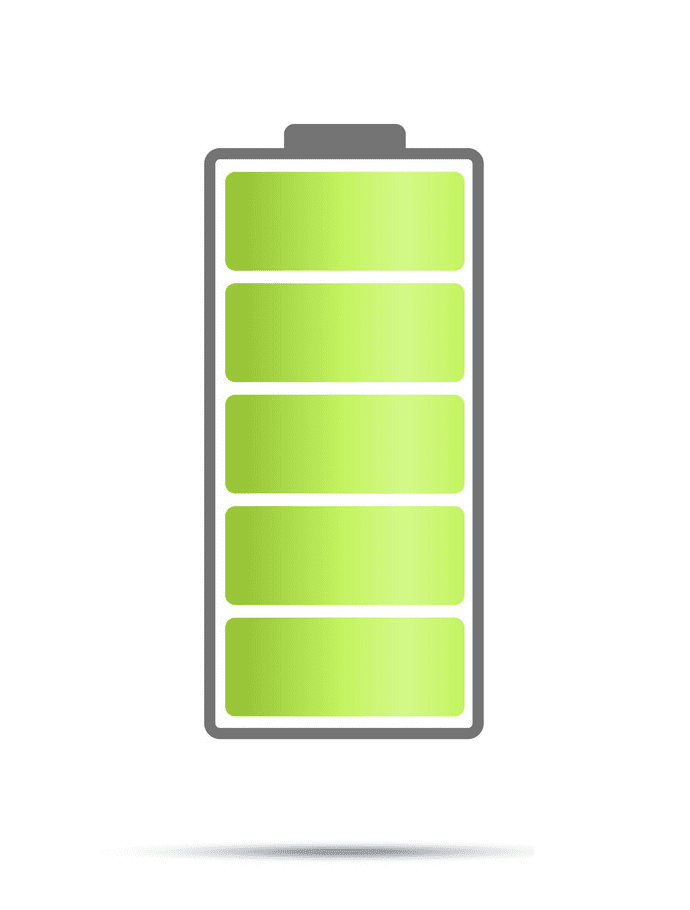 Full Battery clipart png free