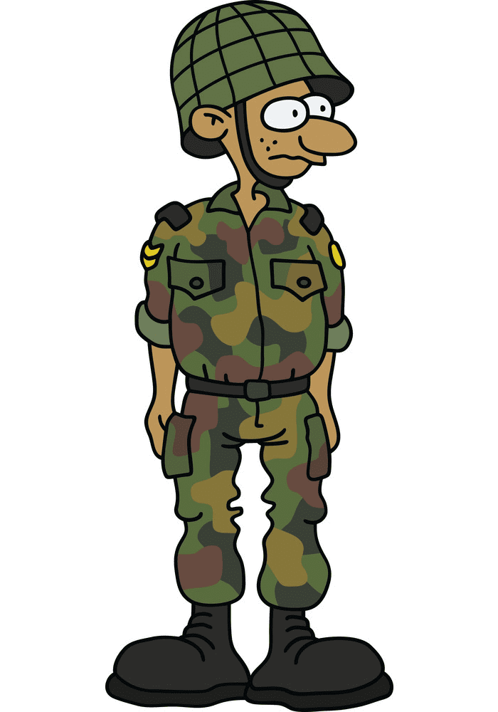 Funny Soldier clipart