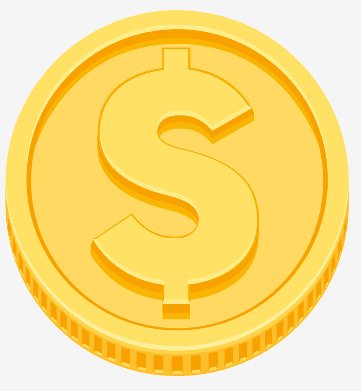 Gold Coin clipart for free