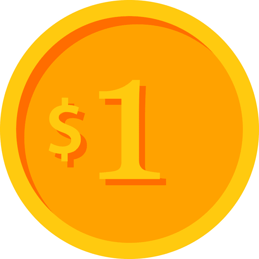 Gold Coin clipart for kid