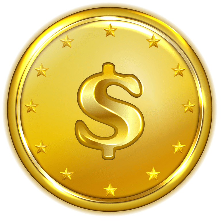 Gold Coin clipart free for kid