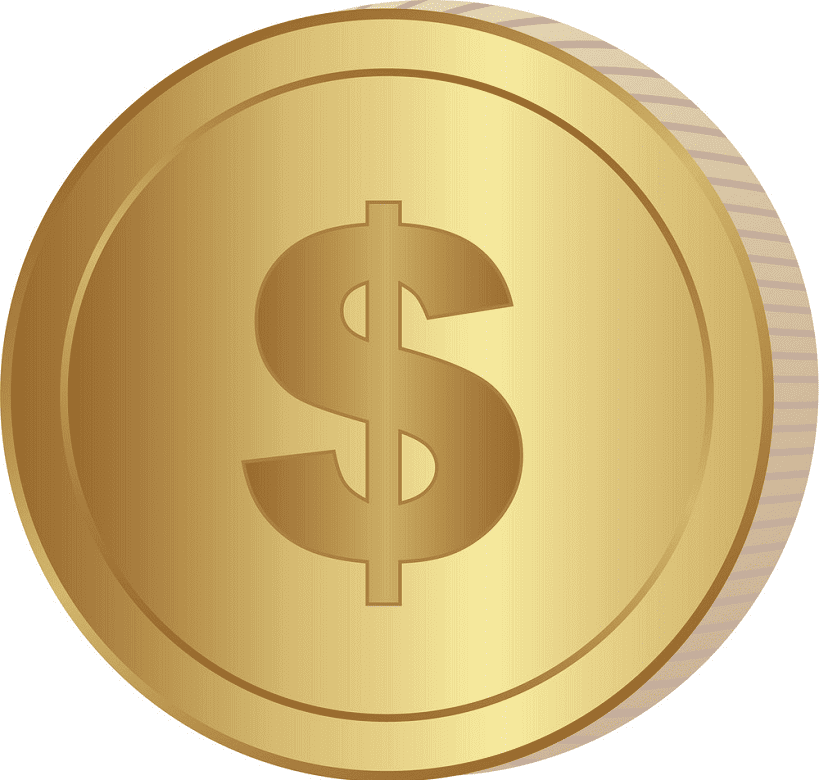Gold Coin clipart free image