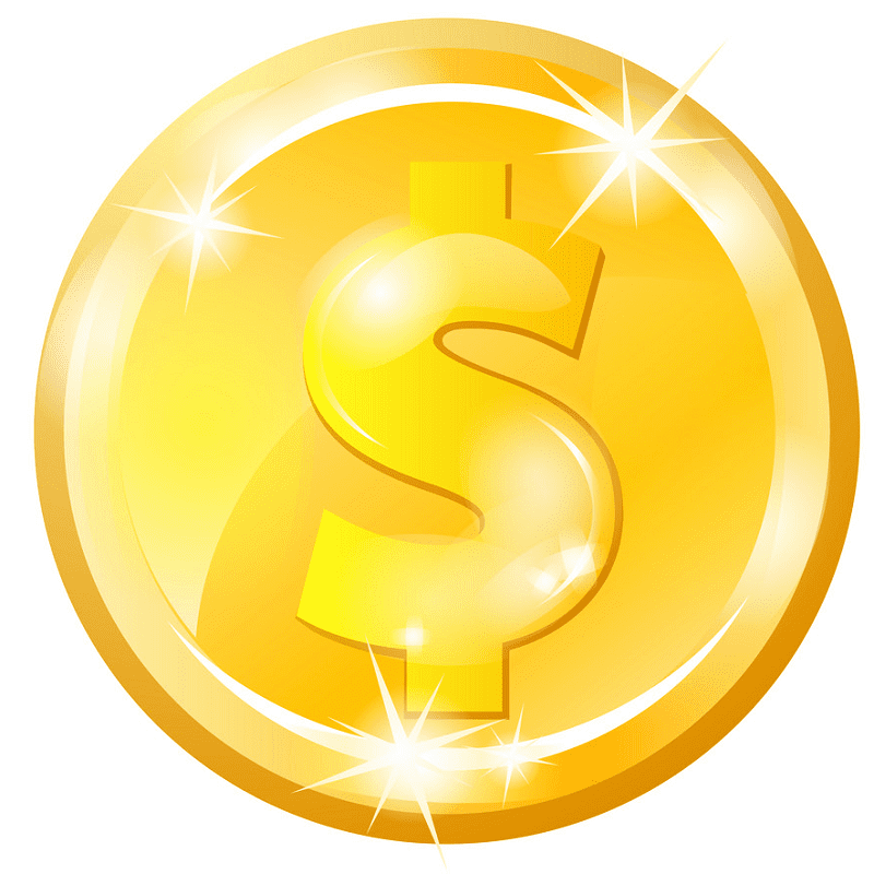 Gold Coin clipart free picture