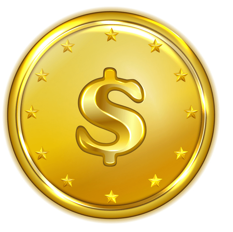 Gold Coin clipart free