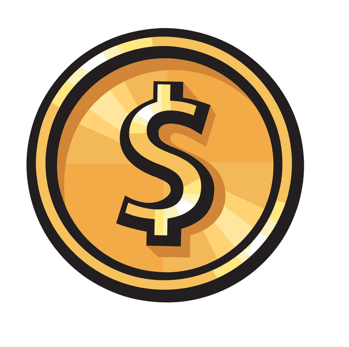 Gold Coin clipart png for kid