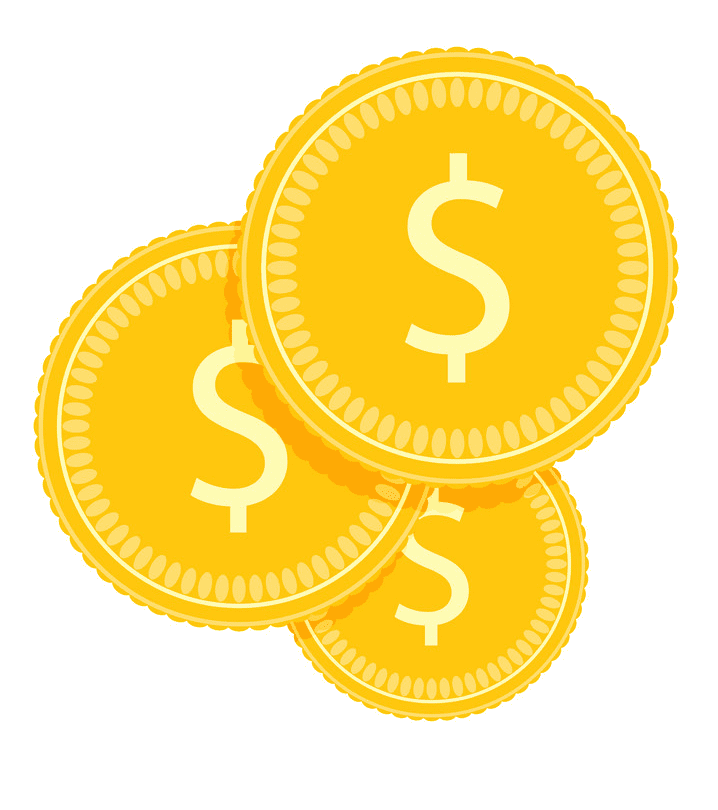 Gold Coins clipart free