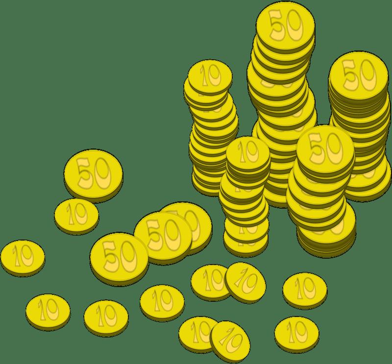 Gold Coins clipart transparent