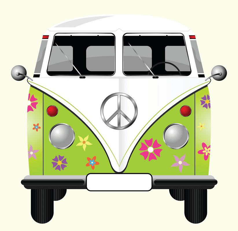 Hippie Van clipart for free