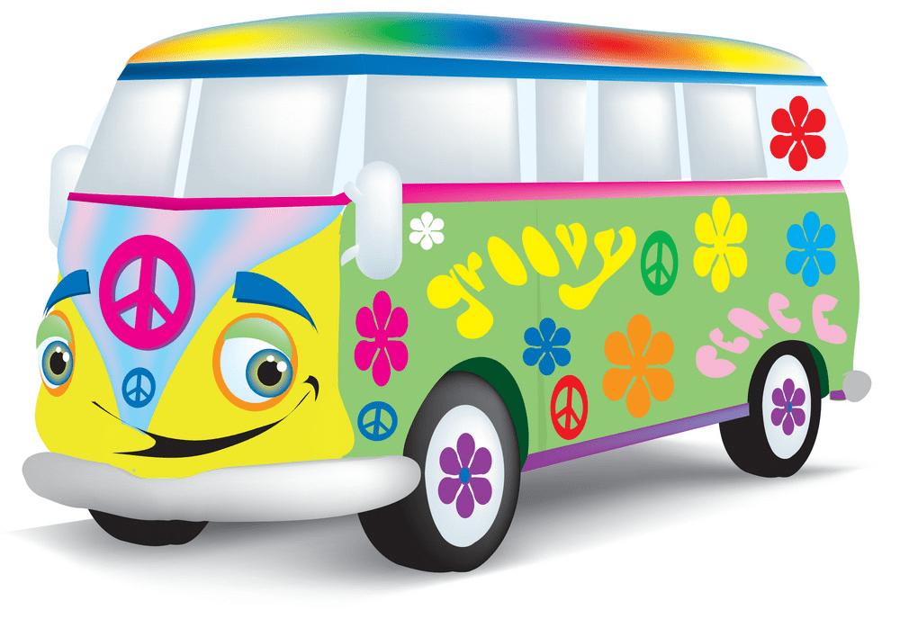 Hippie Van clipart free download