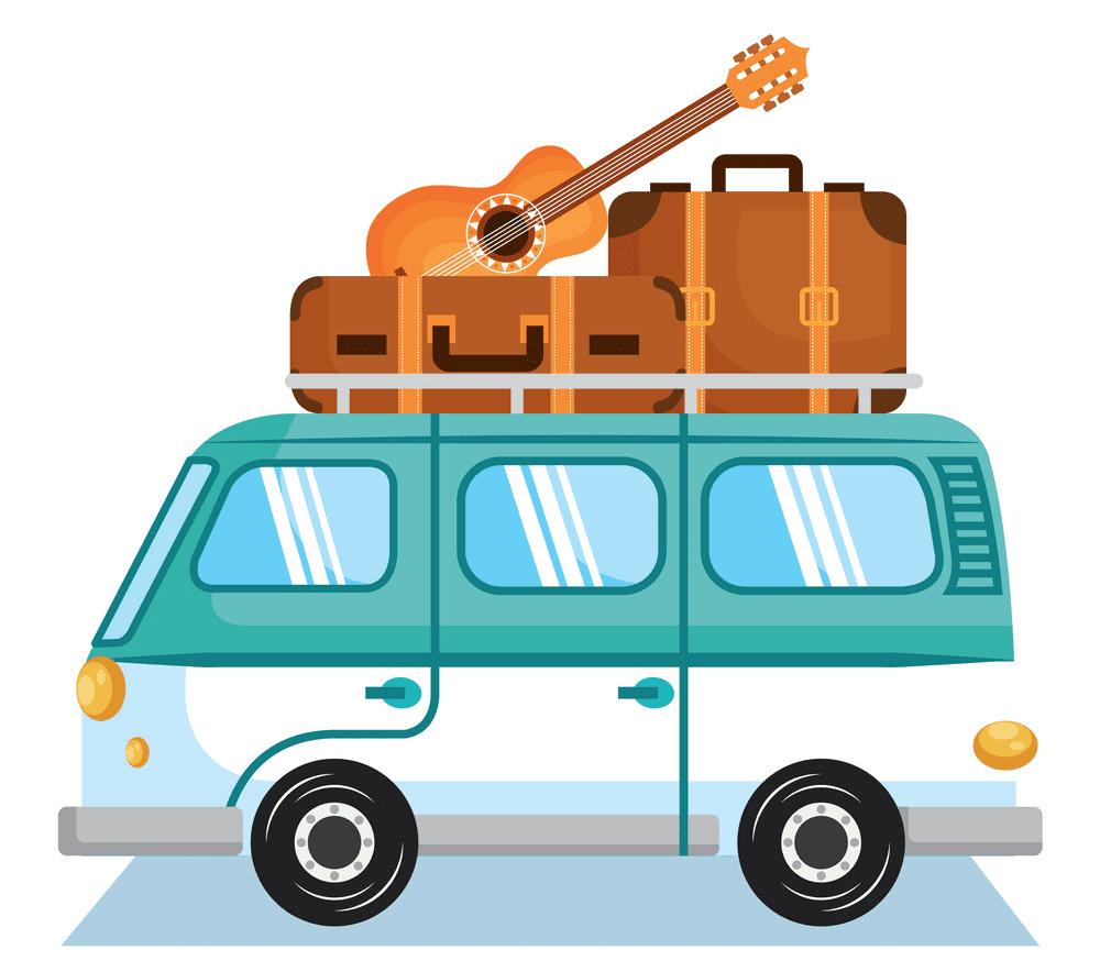 Hippie Van clipart free for kids