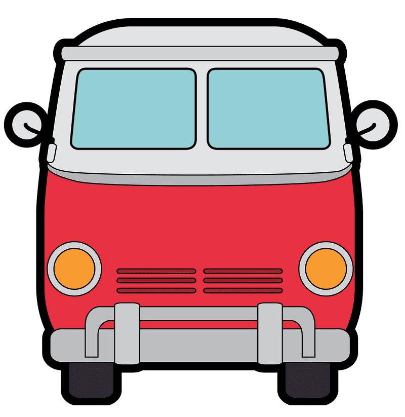 Hippie Van clipart free picture