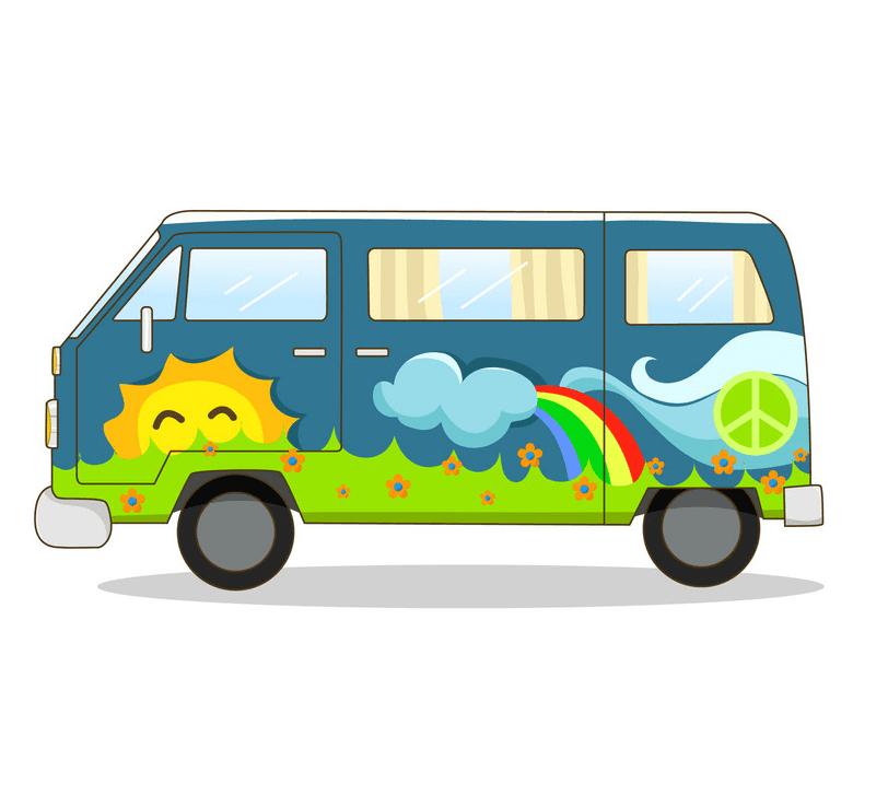 Hippie Van clipart free
