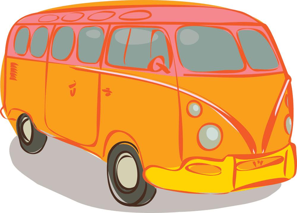 Hippie Van clipart images
