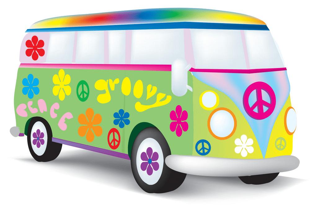 Hippie Van clipart png download