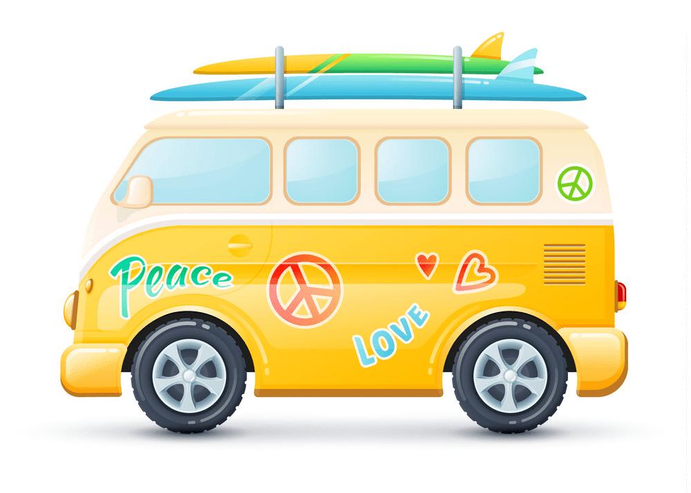 Hippie Van clipart png for kid