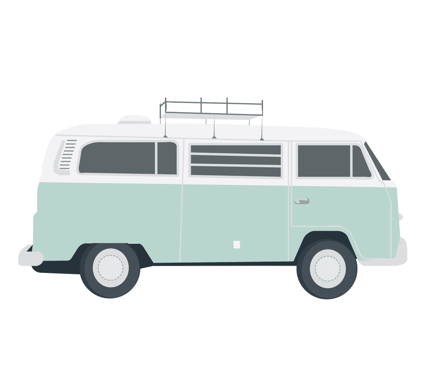 Hippie Van clipart png for kids