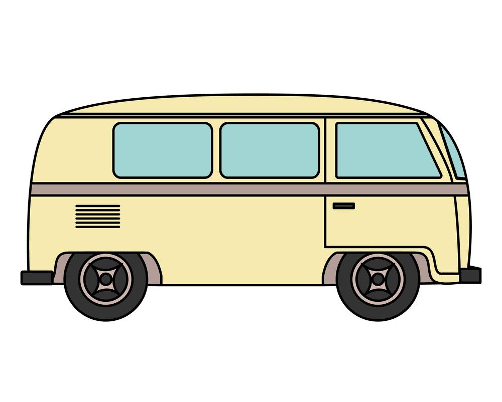 Hippie Van clipart png free