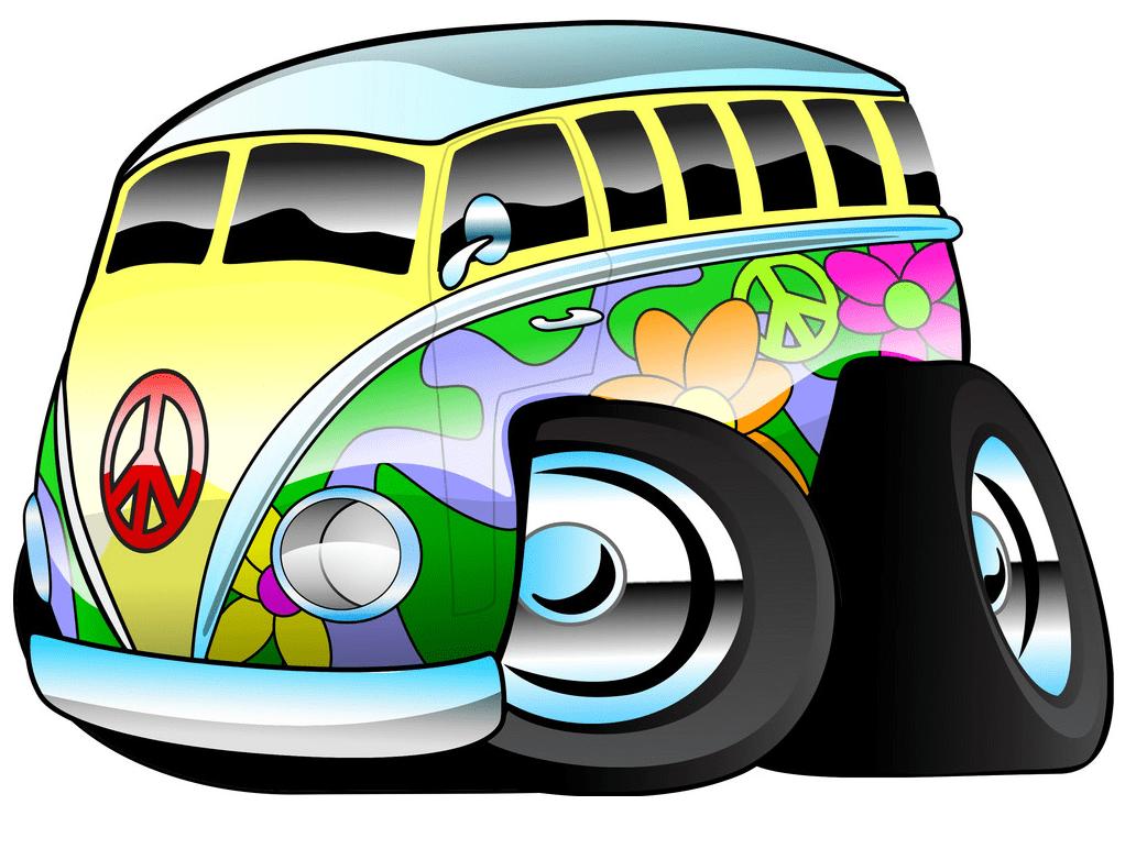 Hippie Van clipart png image