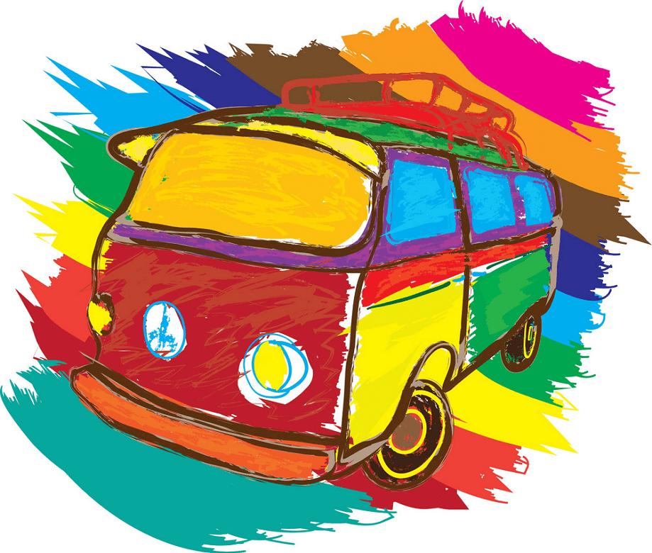Hippie Van clipart png