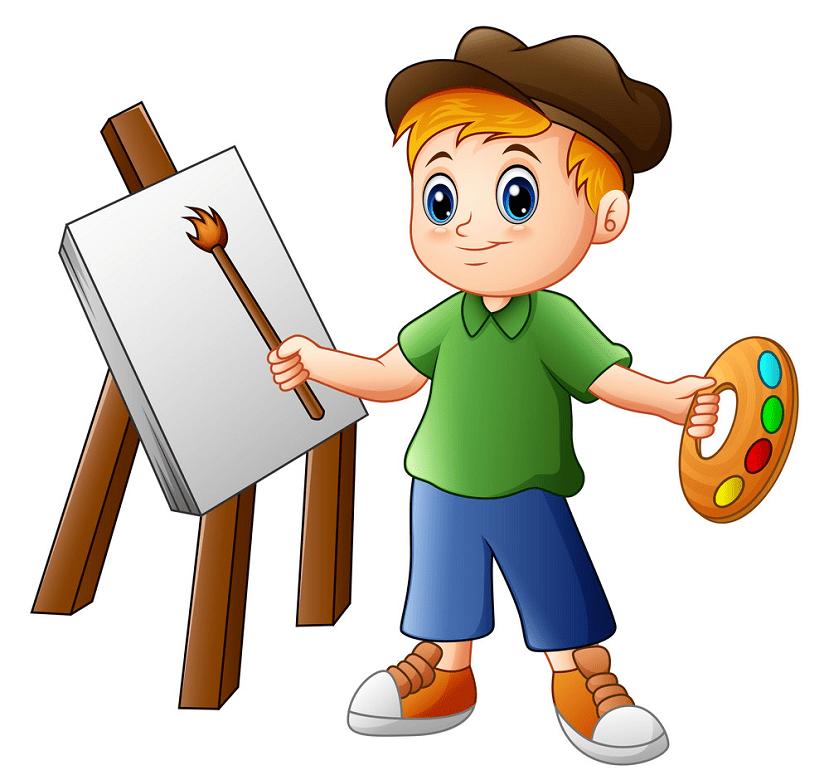 Kid Artist clipart for kids