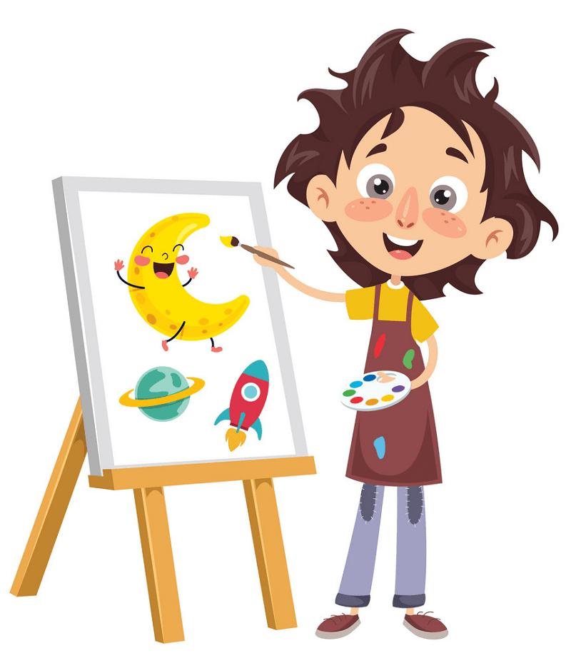 Kid Artist clipart free
