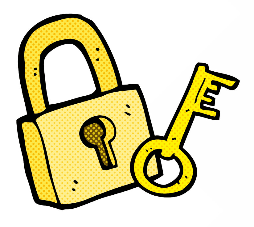 Lock and Key clipart for free