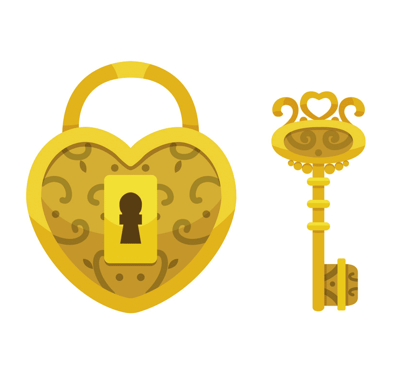Lock and Key clipart image