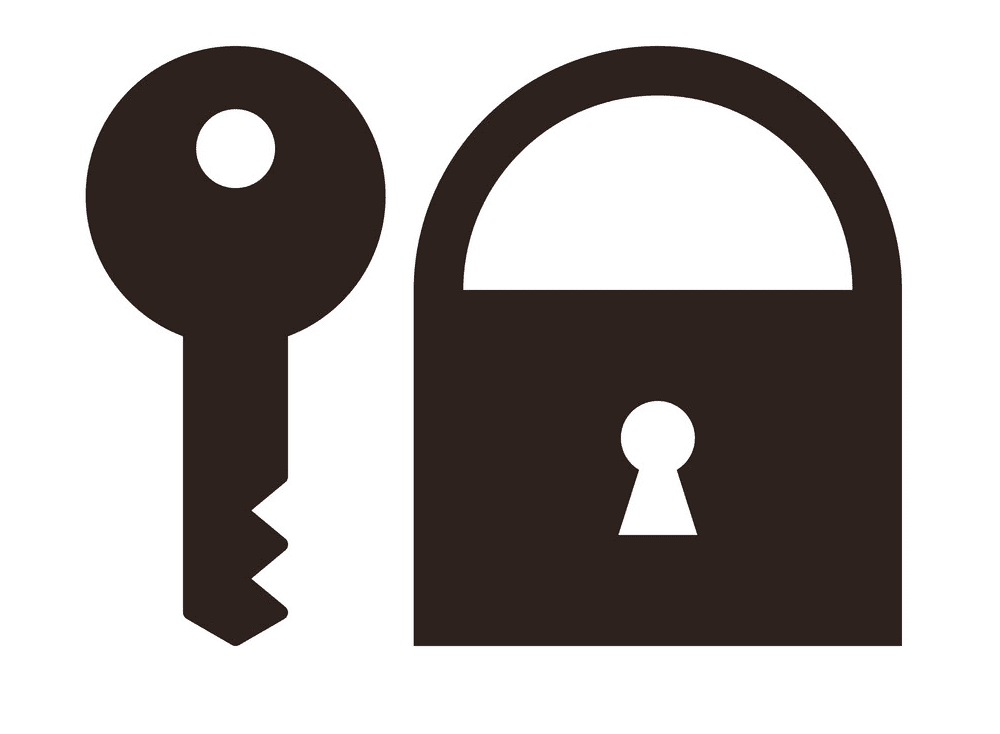 Lock and Key clipart png picture