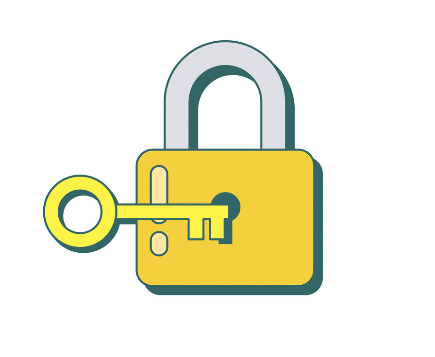 Lock and Key clipart png