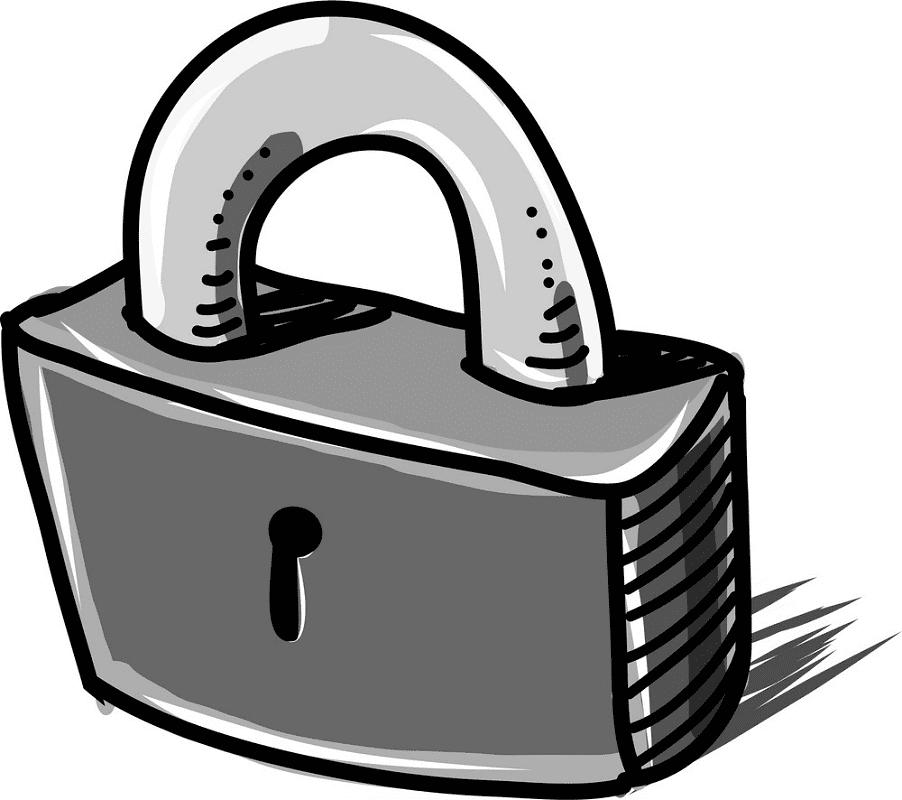 Lock clipart 4