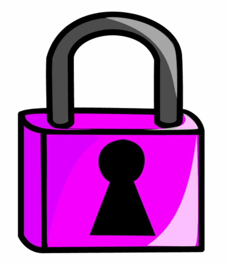 Lock clipart free for kid