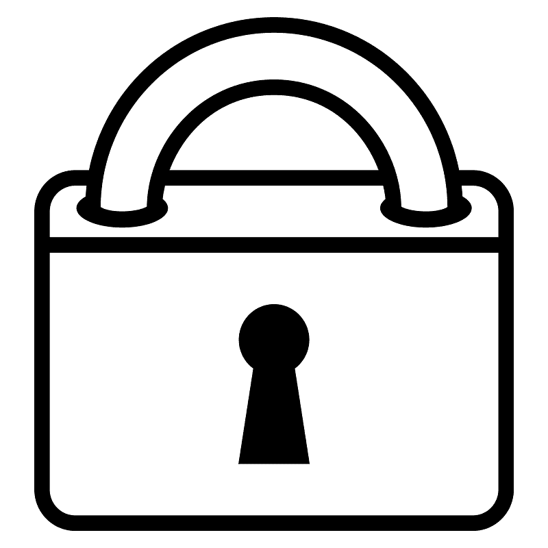 Lock clipart transparent for kids