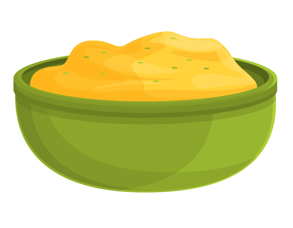 Mashed Potato clipart for kid