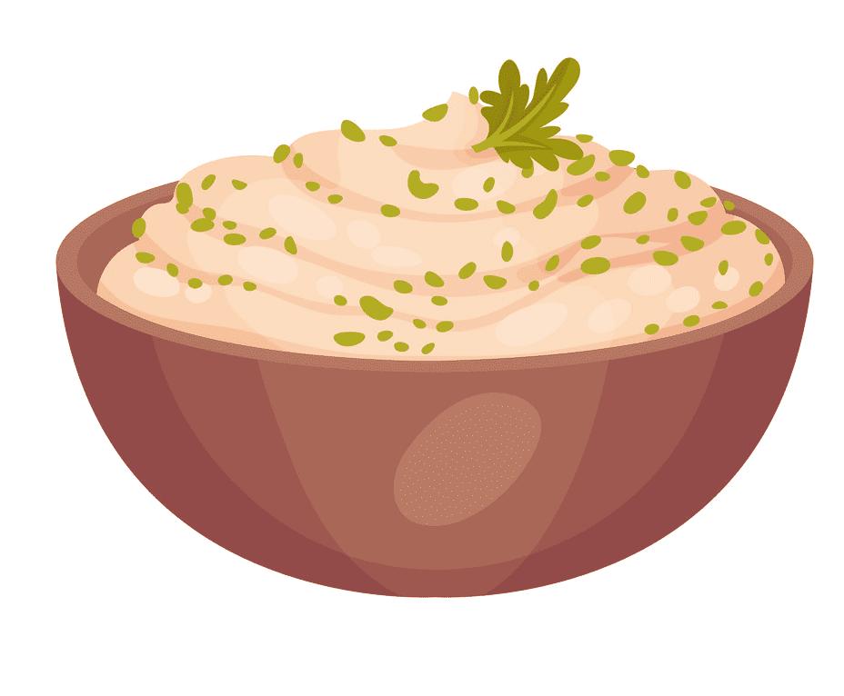 Mashed Potato clipart for kids