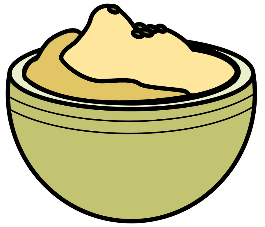 Mashed Potato clipart png free
