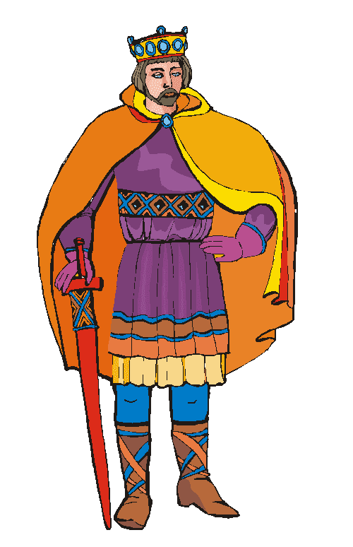 Medieval King clipart