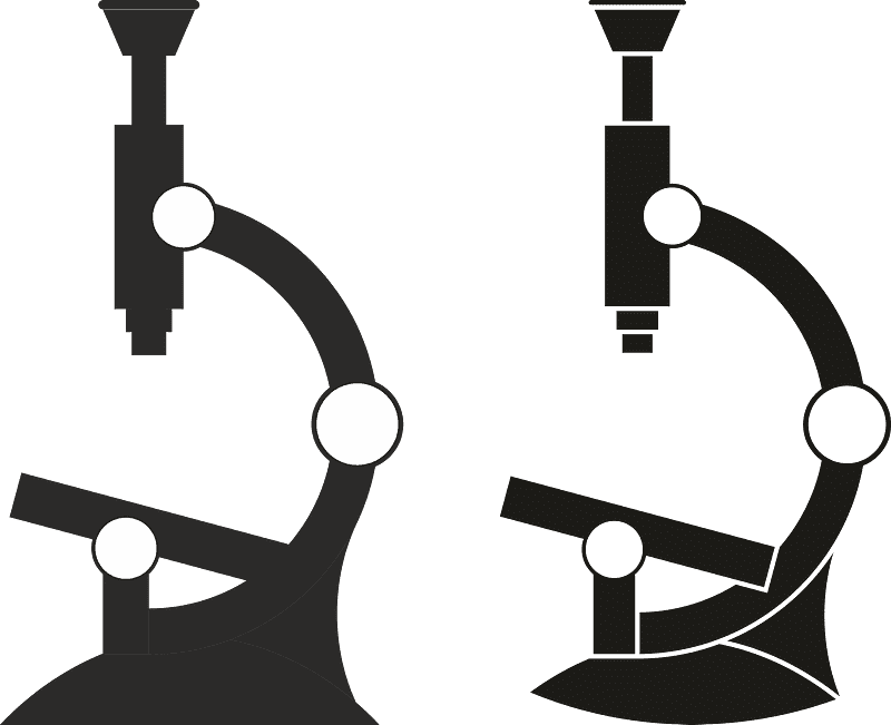 Microscope clipart transparent image