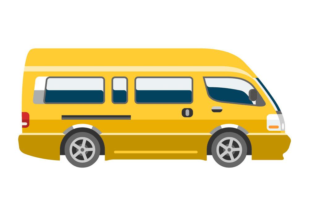 Mini Van clipart free