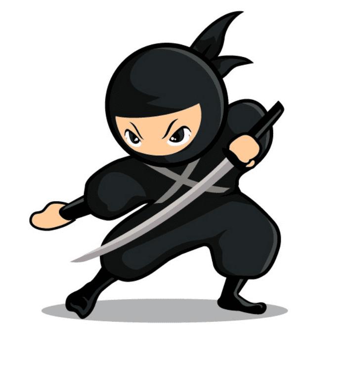Ninja clipart for kid