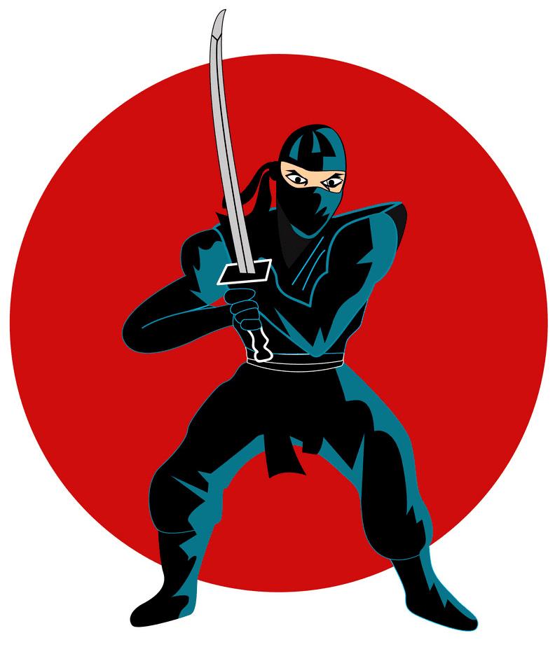 Ninja clipart free for kid