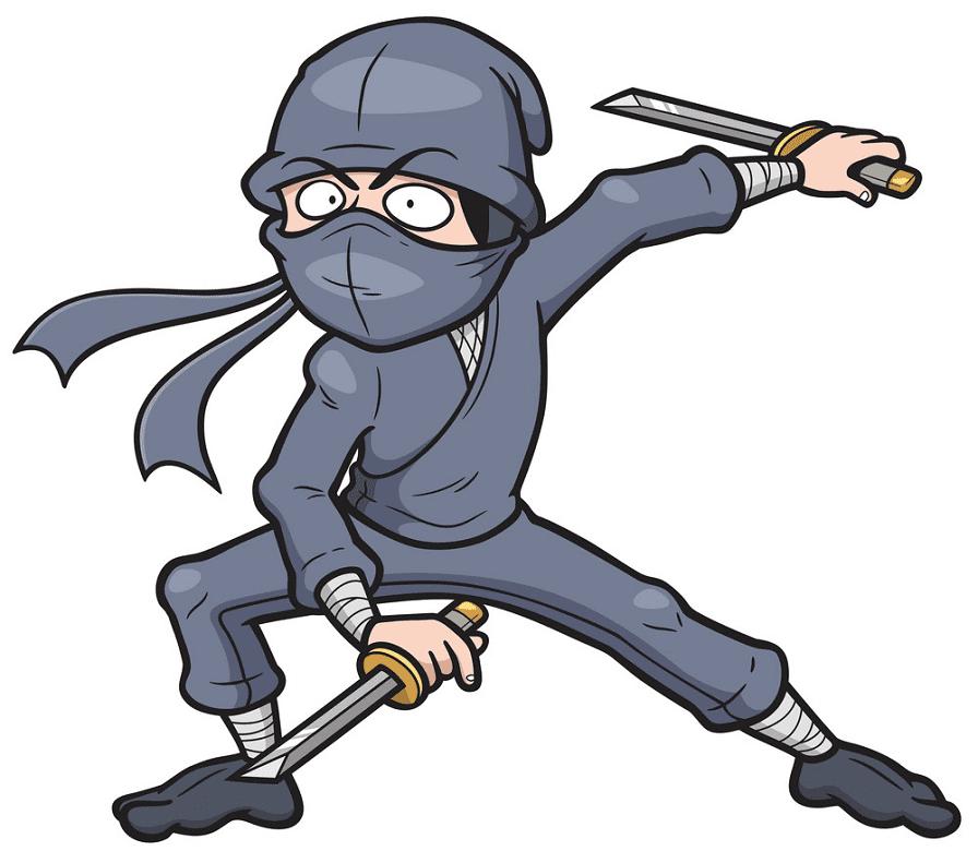 Ninja clipart free for kids