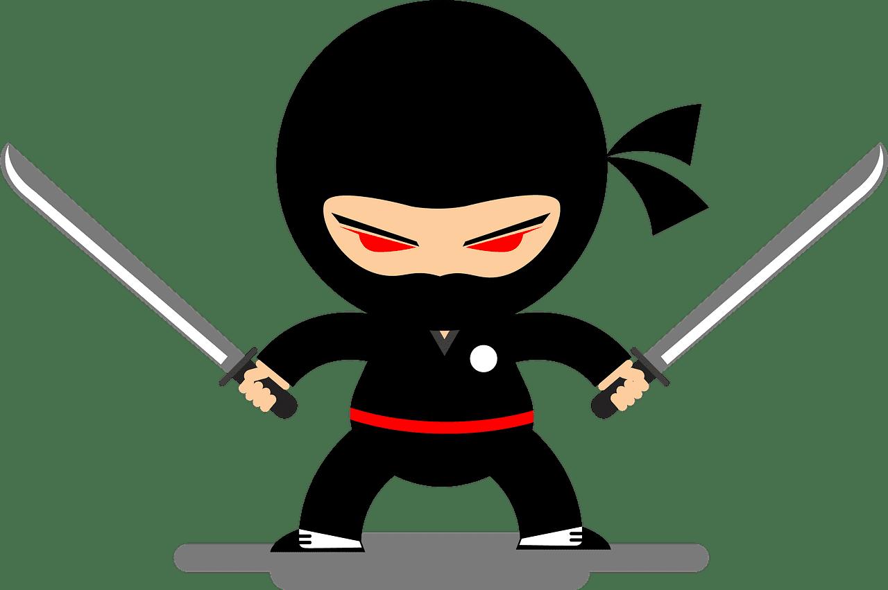 Ninja clipart transparent background 8