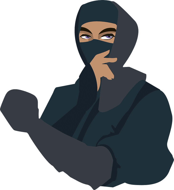 Ninja clipart transparent background