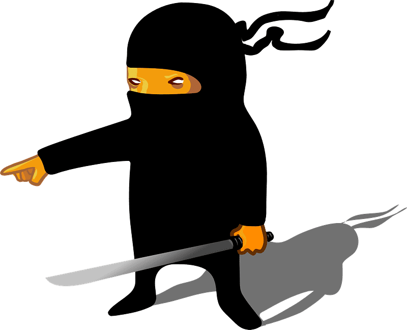 Ninja clipart transparent for kids