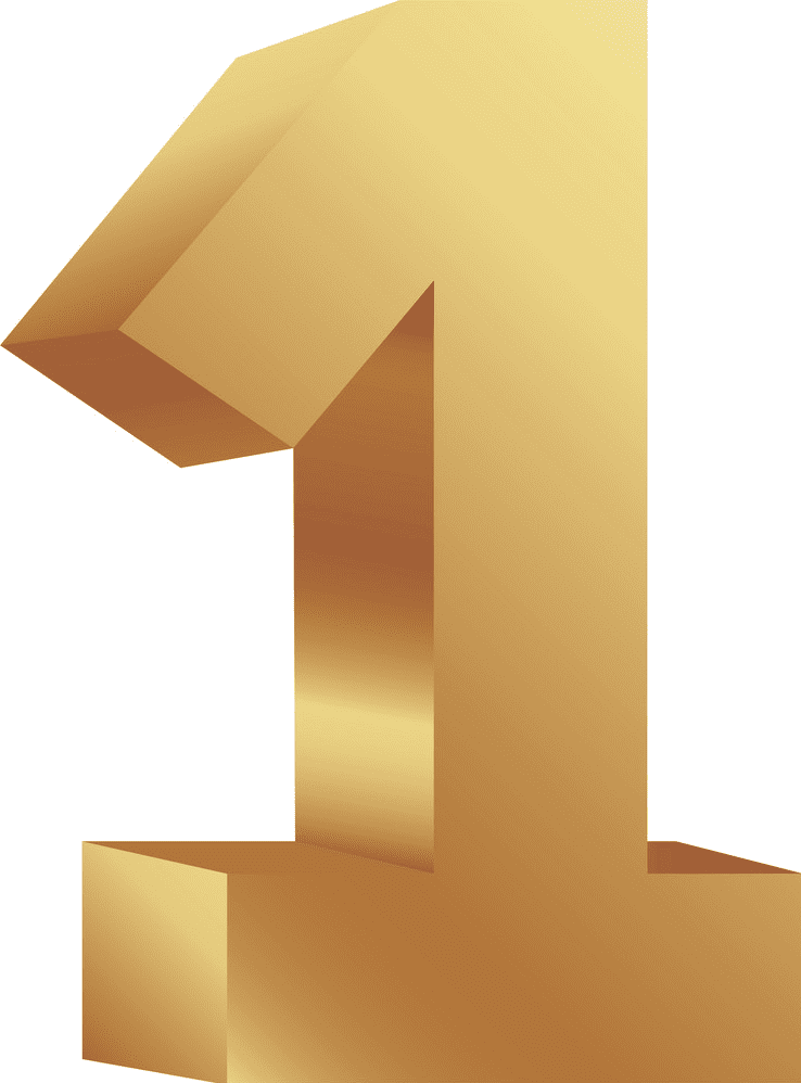 Number 1 clipart png images